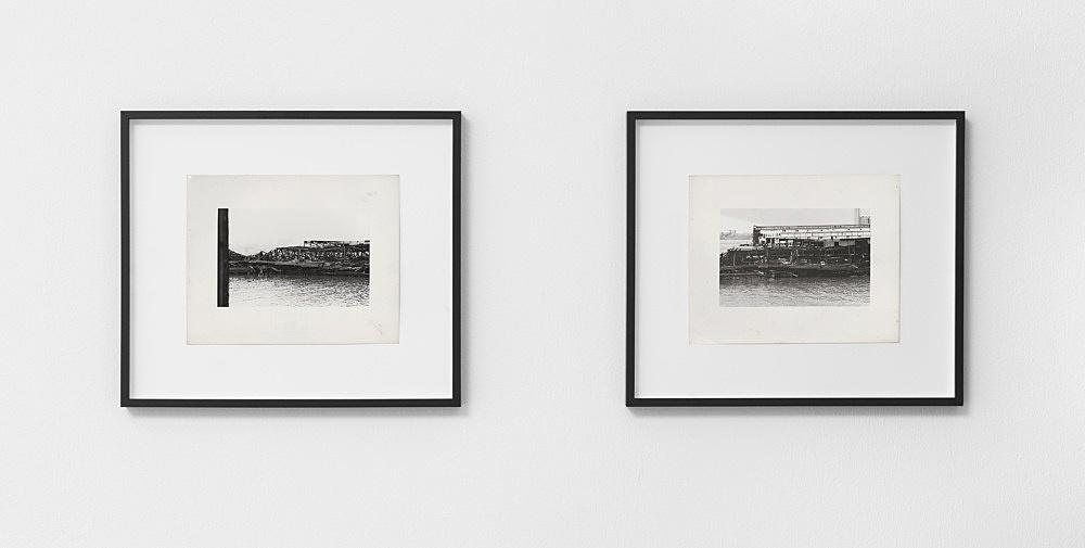"Alvin Baltrop – ""The Piers (collapsed architecture)"", n.d. (1975-1986) silver gelatin print image size: 11.7 x 18 cm paper size: 20.2 x 25.3 cm  Alvin Baltrop ""The Piers (collapsed architecture with figure)"", n.d. (1975-1986) silver gelatin print image size: 11.7 x 18 cm paper size: 20.1 x 25.3 cm  installation view Galerie Buchholz, Berlin 2021"