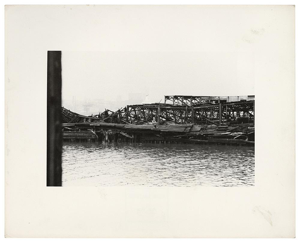 "Alvin Baltrop – ""The Piers (collapsed architecture)"", n.d. (1975-1986) silver gelatin print image size: 11.7 x 18 cm paper size: 20.2 x 25.3 cm"