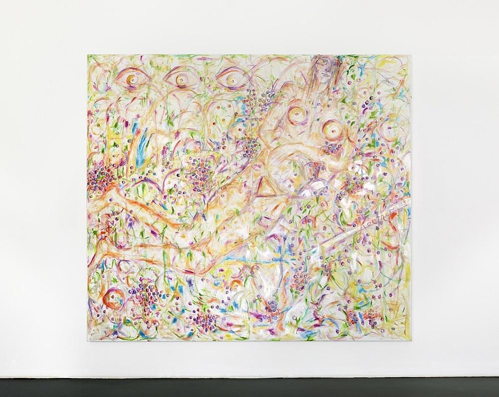Jutta Koether – UnphOtographable, 2021 oil on canvas 220 x 250 cm installation view Galerie Buchholz, Köln 2021