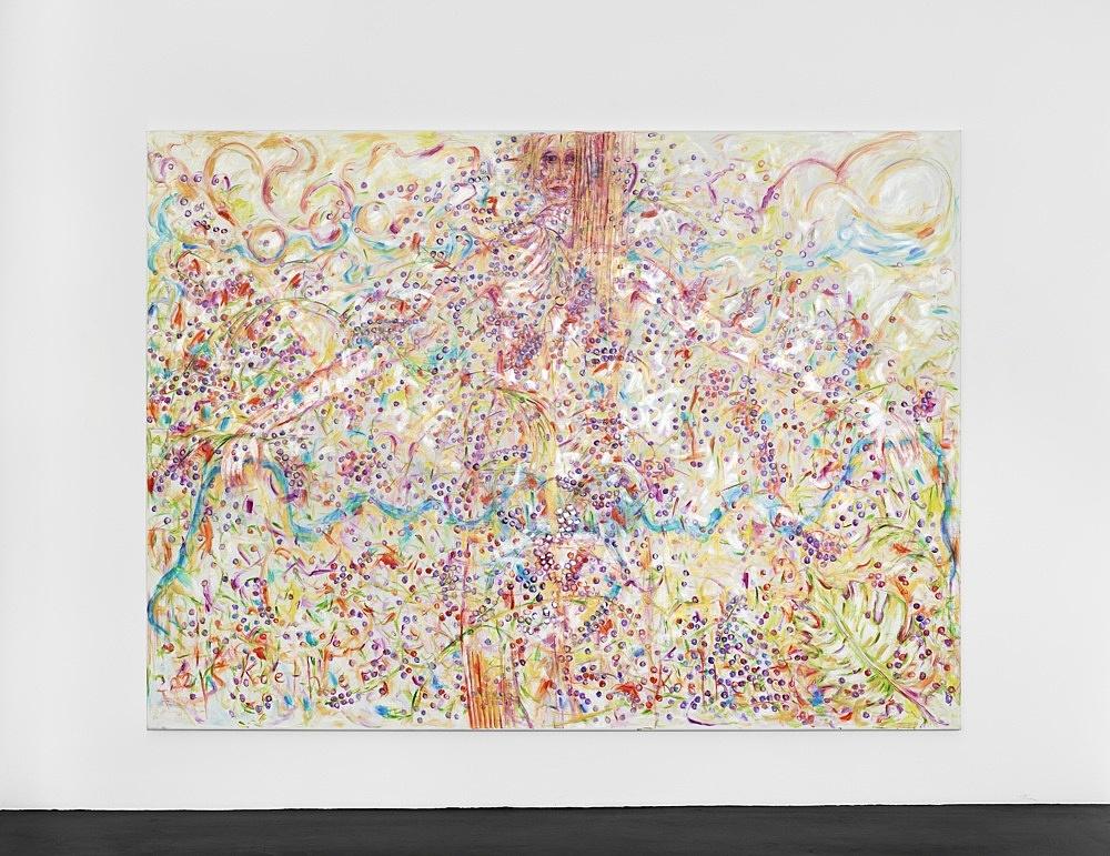 Jutta Koether – UnphoTographable, 2021 oil on canvas 220 x 300 cm installation view Galerie Buchholz, Köln 2021