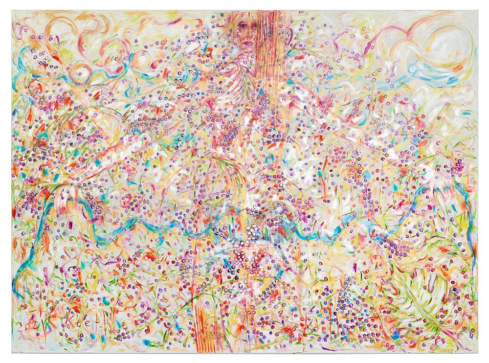 Jutta Koether – UnphoTographable, 2021 oil on canvas 220 x 300 cm