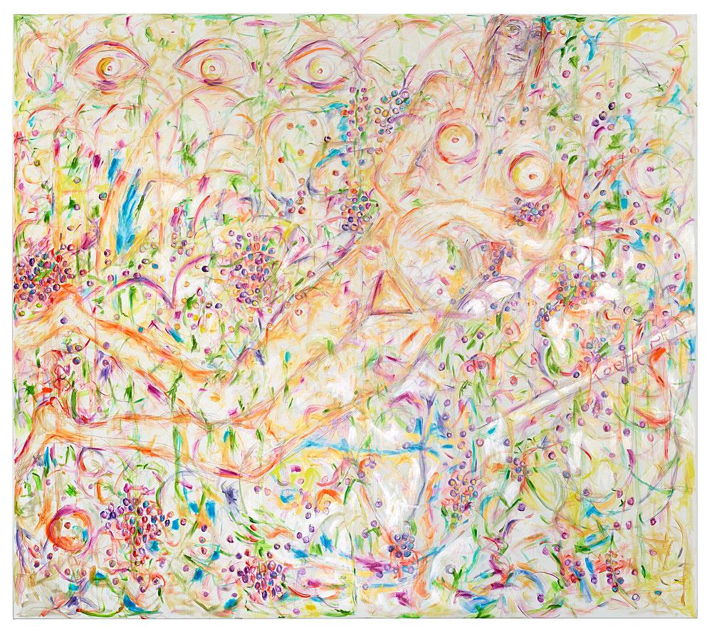 Jutta Koether – UnphOtographable, 2021 oil on canvas 220 x 250 cm