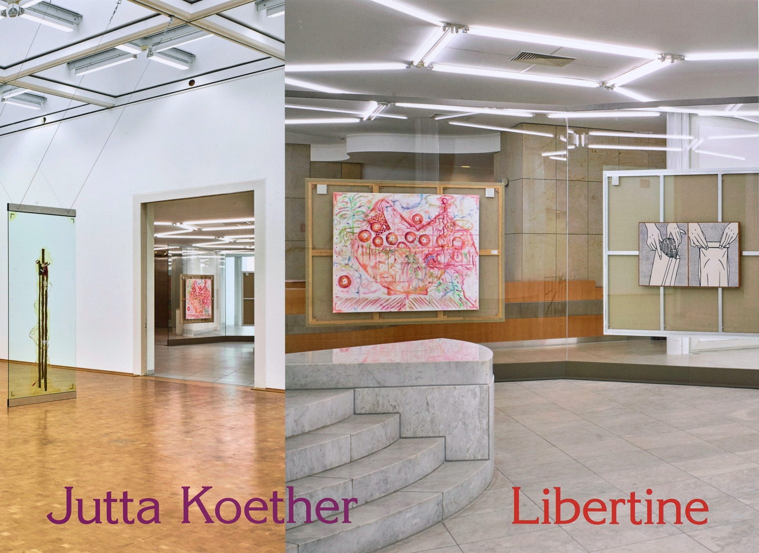 """Jutta Koether – Libertine 2020, 104 pages, Owrps, leporello, fully illustrated in color, 29 x 21 cm Euro 29,80 – Jutta Koether's new artist book, """"Libertine"""", documents and interprets her eponymous exhibition at Museum Abteiberg, a major installation that delved into the museum's history. The artist designed the book, presenting her latest series of paintings from 2018 to 2020 and their intersection with central works in the collection of Museum Abteiberg. The second part of the book contains a dossier of materials from Jutta Koether's studio. New texts by Ewa Lajer-Burcharth, Jenny Nachtigall and Nathan Stobaugh and Susanne Titz offer a comprehensive art historical exploration. The book is publsihed by Museum Abteiberg Mönchengladbach and Verlag der Buchhandlung Walther und Franz König."""