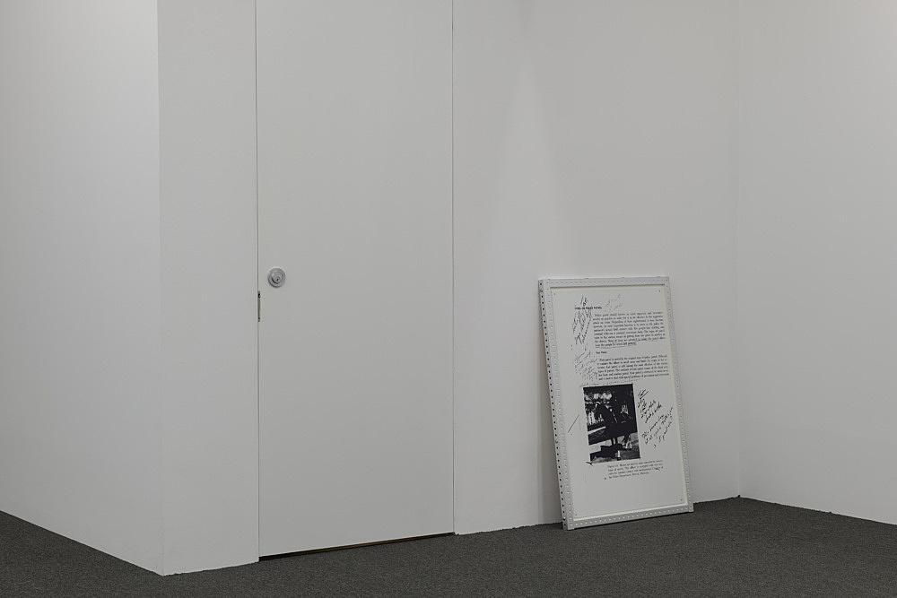 Cady Noland – Untitled, 1991/1992 silkscreen on metal with custom frame  Courtesy Cady Noland and Galerie Buchholz