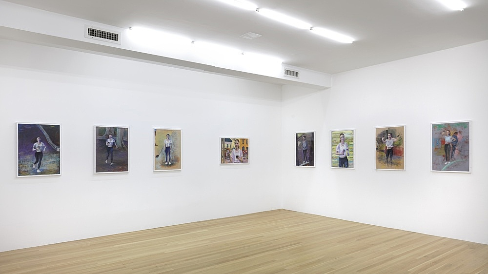 John Kelsey – The Pea Stakers installation view Galerie Buchholz, New York 2021